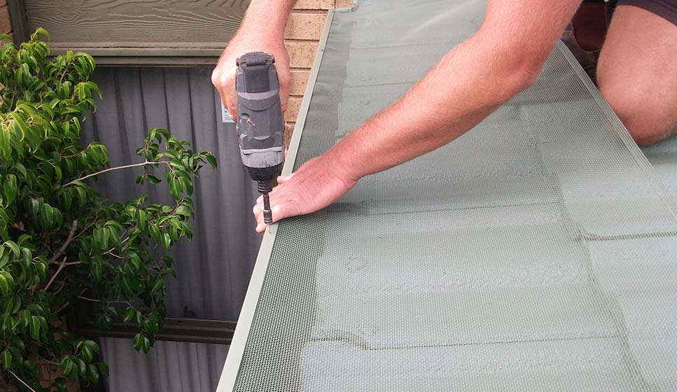 Our Gutter Guard system effectively keeps leaves and other debris out of your gutters.