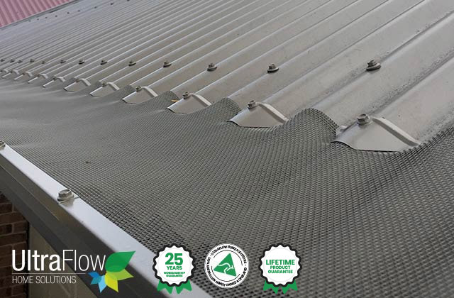 UltraFlow has Premuim Aluminuim Mesh that will solve all your Gutter problems.